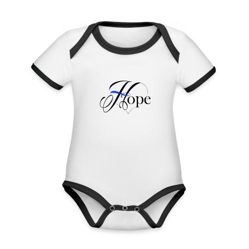 Hope startshere - Organic Baby Contrasting Bodysuit