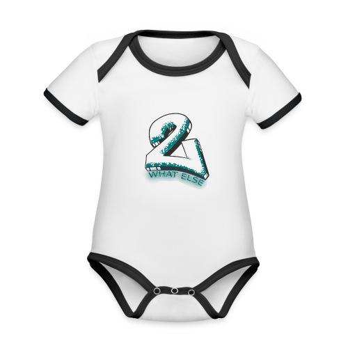 77 what else - Baby Bio-Kurzarm-Kontrastbody
