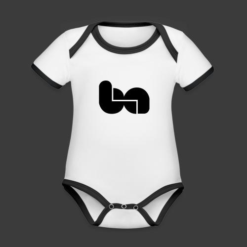 logo berciniauto - Body da neonato a manica corta, ecologico e in contrasto cromatico
