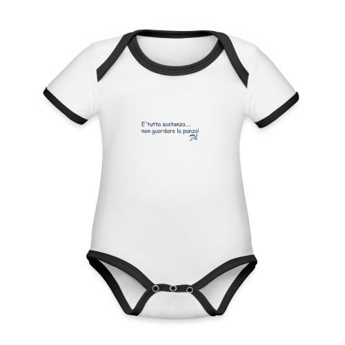 Fherry - Body da neonato a manica corta, ecologico e in contrasto cromatico