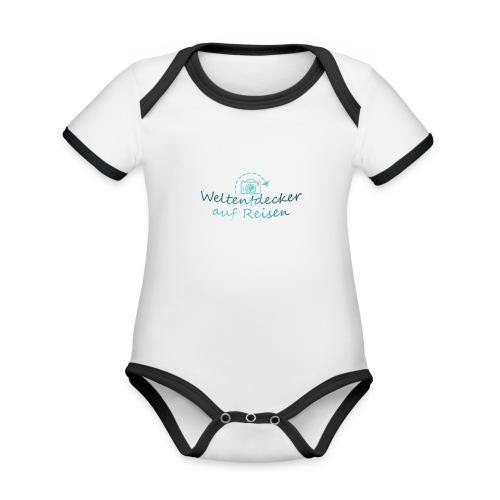 Weltentdecker auf Reisen - Baby Bio-Kurzarm-Kontrastbody