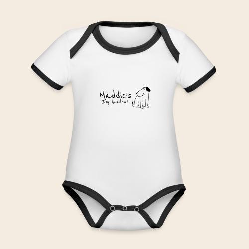 Académie des chiens de Maddie (noir) - Body Bébé bio contrasté manches courtes