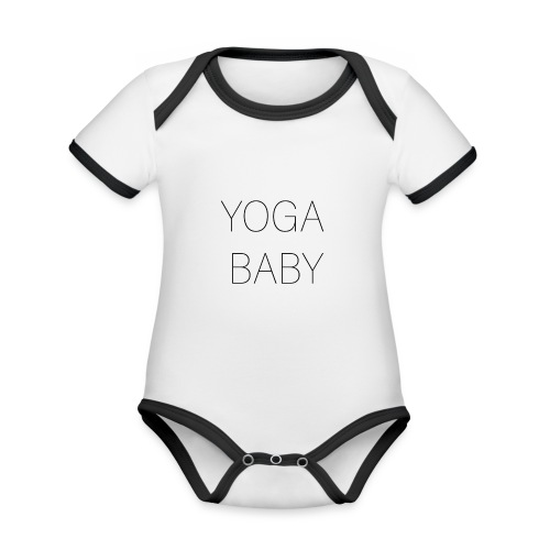 Yoga baby! - Ekologisk kontrastfärgad kortärmad babybody