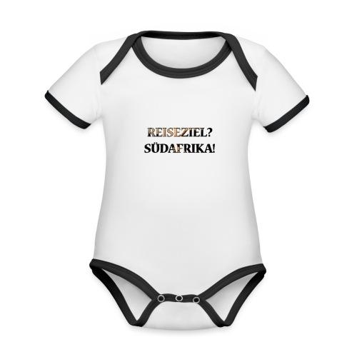Reiseziel? Südafrika! - Baby Bio-Kurzarm-Kontrastbody