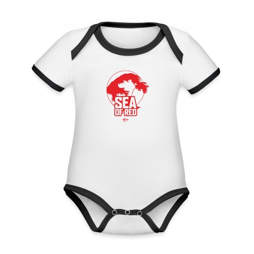 Sea of red logo - red - Organic Baby Contrasting Bodysuit