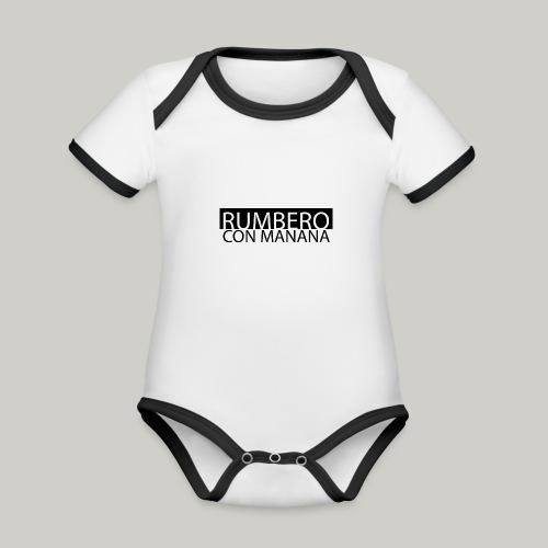 Rumbero con manana - Baby Bio-Kurzarm-Kontrastbody