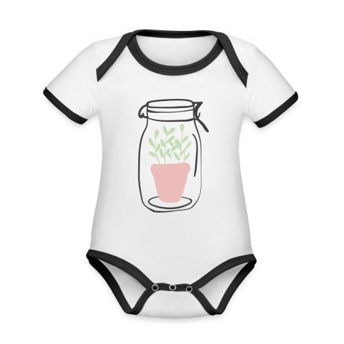 Jar of life - Ekologisk kontrastfärgad kortärmad babybody