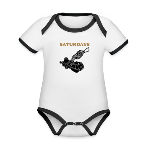 Saturdays Lawnmower - Organic Baby Contrasting Bodysuit