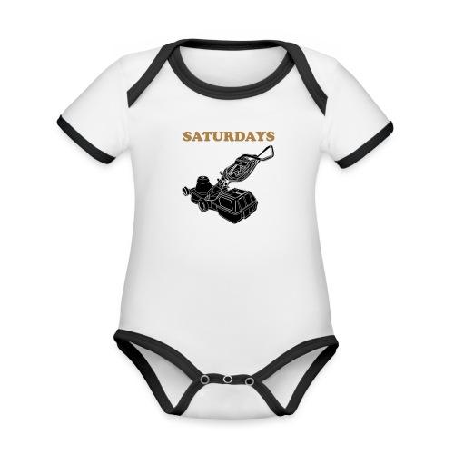Saturdays Lawnmower - Organic Baby Contrasting Bodysuit