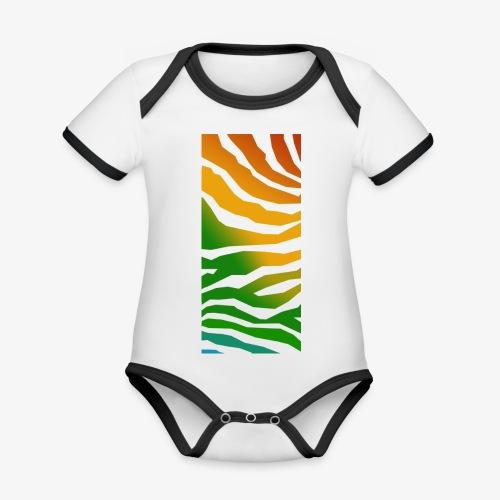 zebra - Ekologisk kontrastfärgad kortärmad babybody