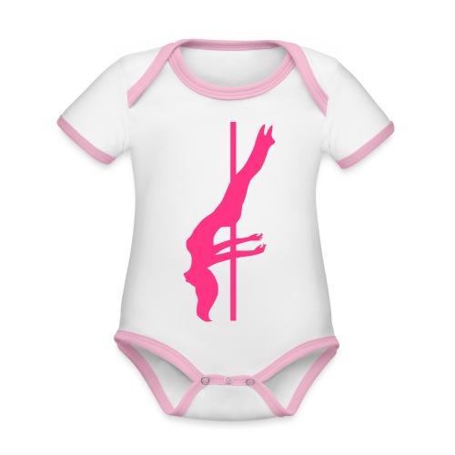 Pole Dance - Body da neonato a manica corta, ecologico e in contrasto cromatico