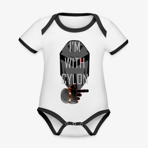 I'm with Cylon - Økologisk kortermet kontrast-babybody