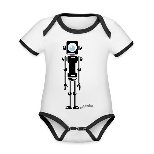 gambots roboter 04 - Baby Bio-Kurzarm-Kontrastbody