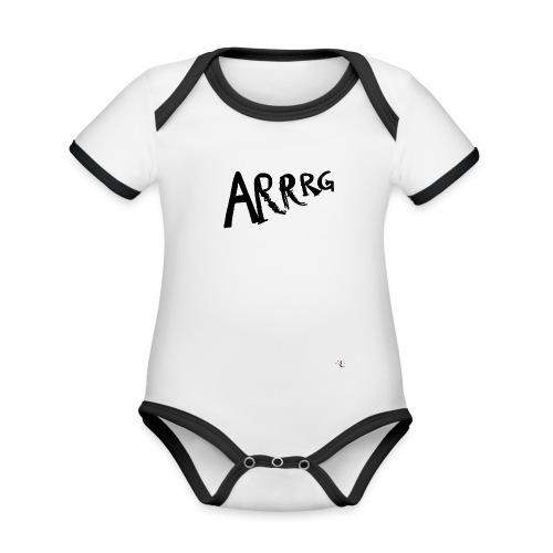 Arrg - Body da neonato a manica corta, ecologico e in contrasto cromatico