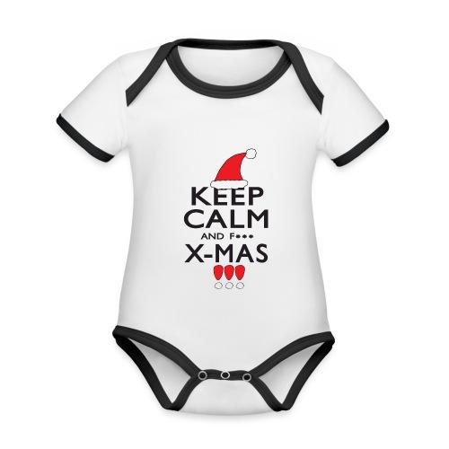 Keep calm XMAS - Baby Bio-Kurzarm-Kontrastbody