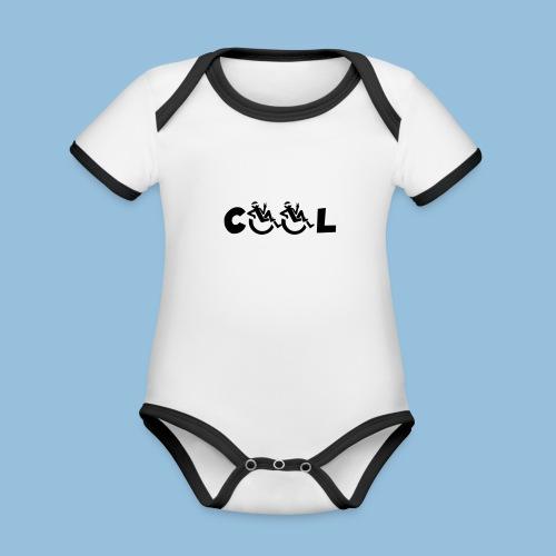 COOL 002 - Baby contrasterend bio-rompertje met korte mouwen