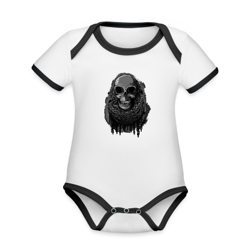 Skull in Chains - Organic Baby Contrasting Bodysuit