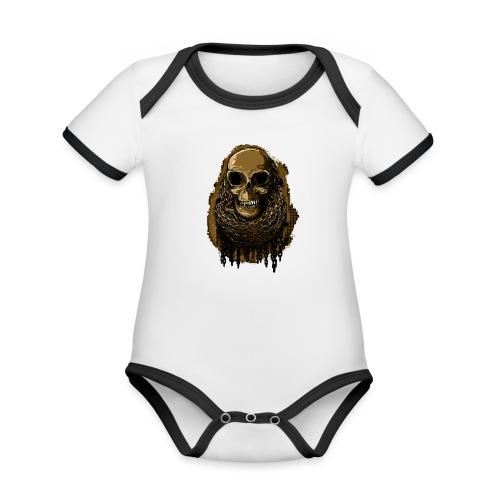 Skull in Chains YeOllo - Organic Baby Contrasting Bodysuit