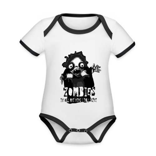zombies - the only meat eaters i truly respect sv - Ekologisk kontrastfärgad kortärmad babybody