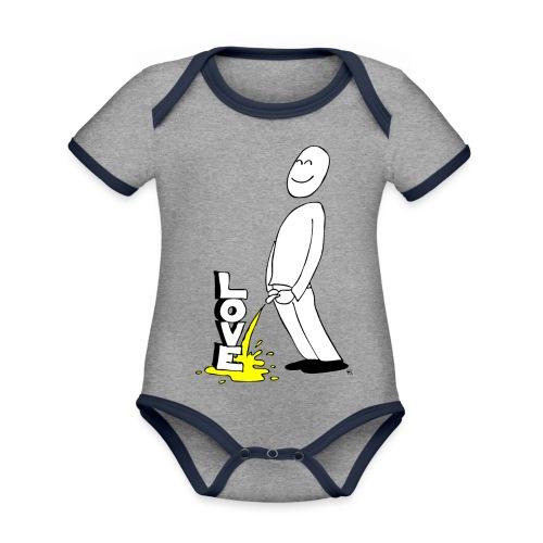 tissekopp original - Økologisk kortermet kontrast-babybody