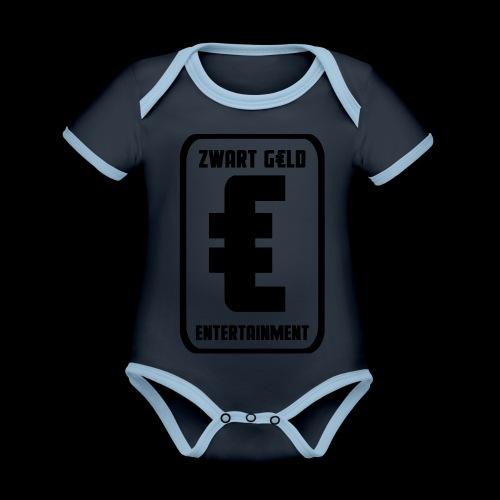 ZwartGeld Logo Sweater - Baby contrasterend bio-rompertje met korte mouwen