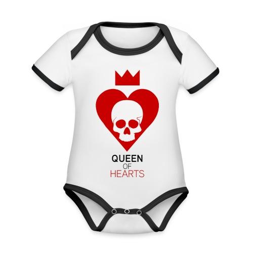 Tee shirt manches longues Reine des Coeurs - Body Bébé bio contrasté manches courtes