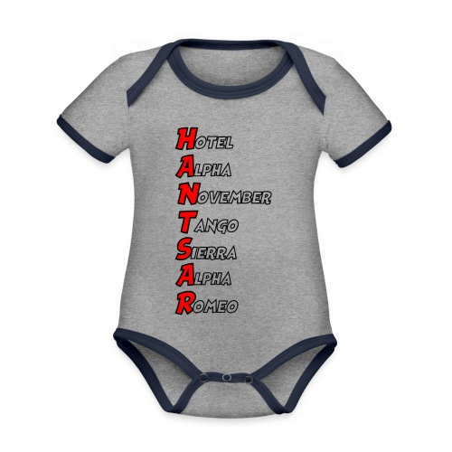 HANTSAR - Phonetic - Organic Baby Contrasting Bodysuit
