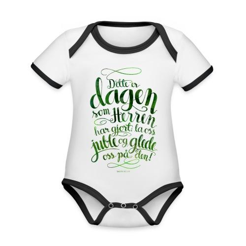Dette er dagen - Økologisk kortermet kontrast-babybody