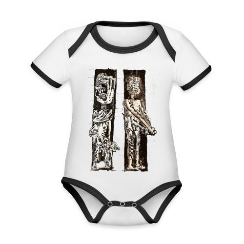 Café Royal - Ekologisk kontrastfärgad kortärmad babybody