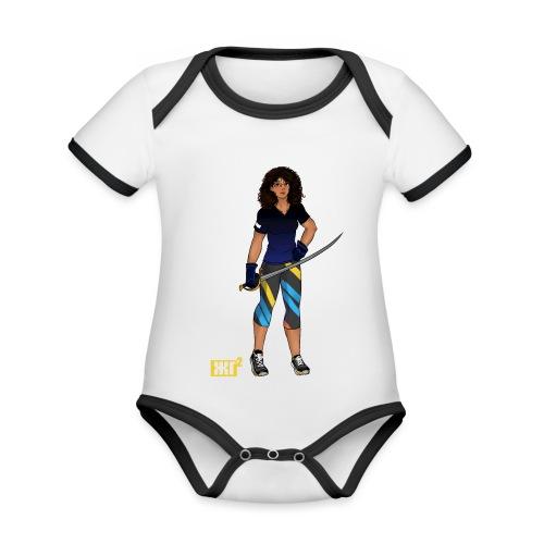 Sabre fencer - Organic Baby Contrasting Bodysuit