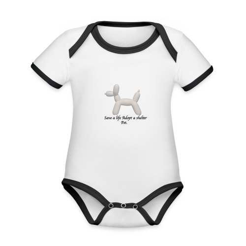 Save A Life - Organic Baby Contrasting Bodysuit