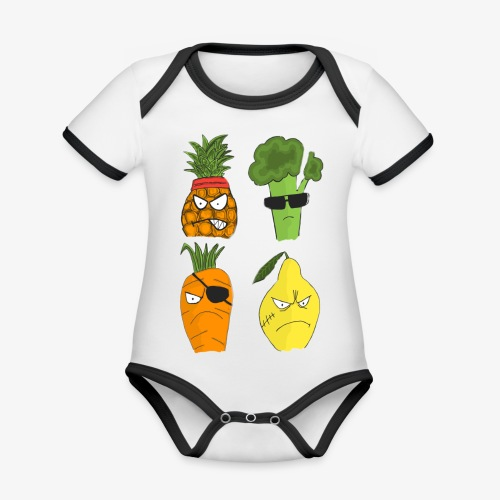 Gangsta Vegetables - Public Enemies? - Body Bébé bio contrasté manches courtes