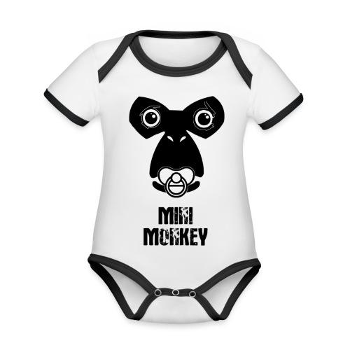 Monkey Fly - Monkey - Baby - Baby Bio-Kurzarm-Kontrastbody
