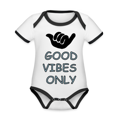 Chill-relax-be kind - Baby Bio-Kurzarm-Kontrastbody