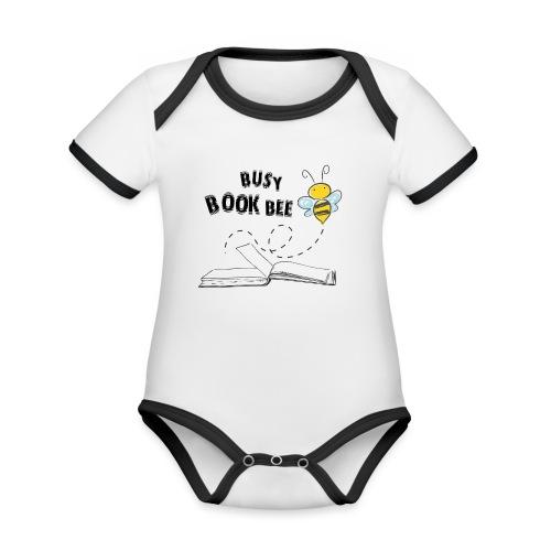 Bees5-2 Bienen und Bücher | save the bees - Organic Baby Contrasting Bodysuit