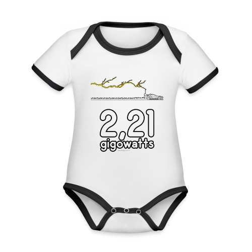 2,21 gigowatts ! - Body Bébé bio contrasté manches courtes