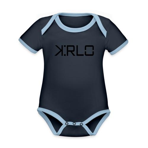 Kirlo Logotipo Negro - Body contraste para bebé de tejido orgánico