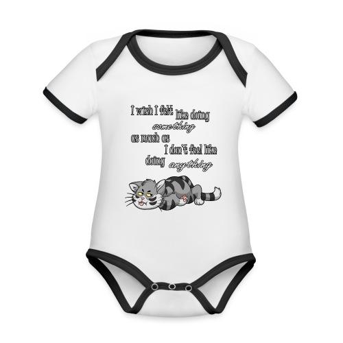 I Wish I Felt Like... - Ekologiczne body niemowlęce z krótkim rękawem i kontrastowymi lamówkami