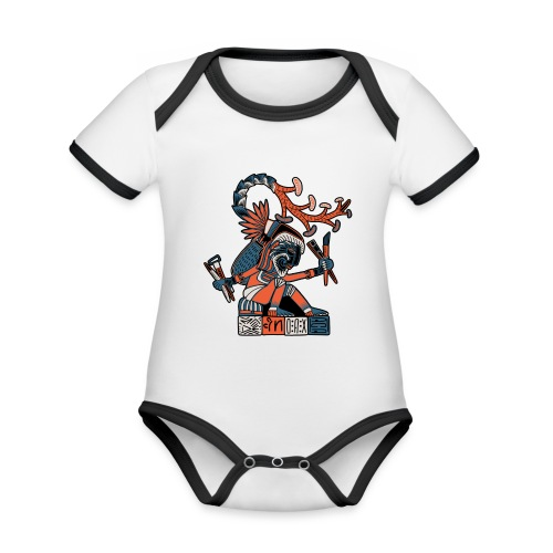 MAESTRO MEZCALERO PREHISPÁNICO - Body contraste para bebé de tejido orgánico