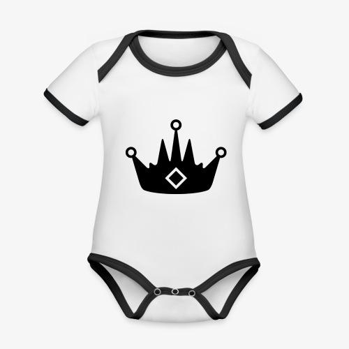 CORONA DELL'ABBIGLIAMENTO - Body da neonato a manica corta, ecologico e in contrasto cromatico