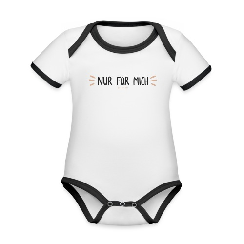 Nur für mich #SelbstliebeKollektion - Baby Bio-Kurzarm-Kontrastbody