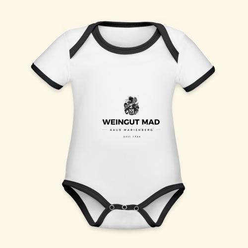 Weingut MAD - Baby Bio-Kurzarm-Kontrastbody