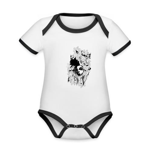 Akasacian tshirt design 611 - Body contraste para bebé de tejido orgánico
