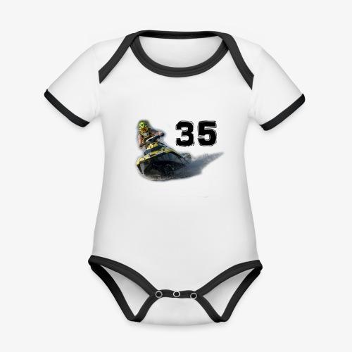 jetski35 - Vauvan kontrastivärinen, lyhythihainen luomu-body
