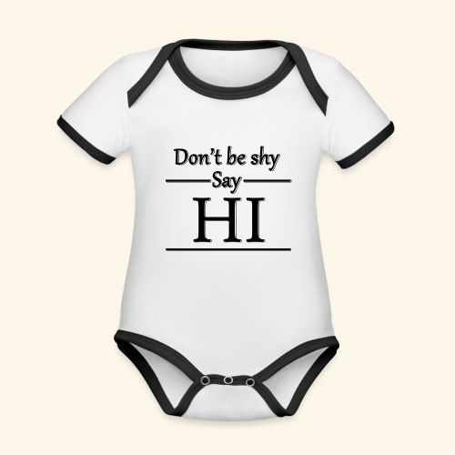 Don't be shy - Organic Baby Contrasting Bodysuit