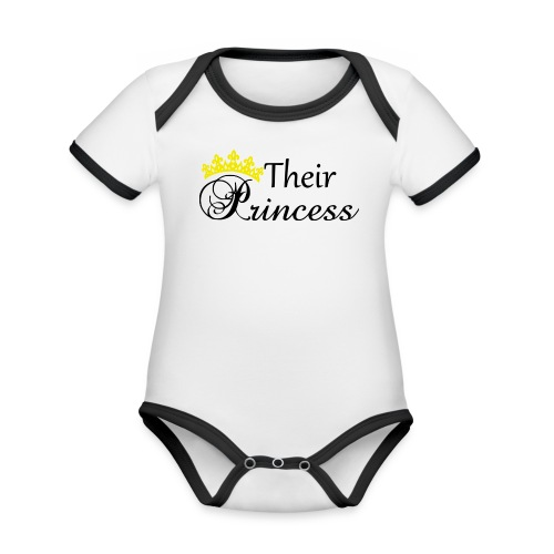 Their Princess - Ekologisk kontrastfärgad kortärmad babybody