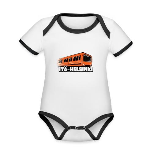 ITÄ-HELSINKI METRO T-paidat, Hupparit, lahjat ym. - Vauvan kontrastivärinen, lyhythihainen luomu-body