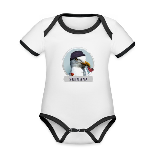 Seemann - Baby Bio-Kurzarm-Kontrastbody