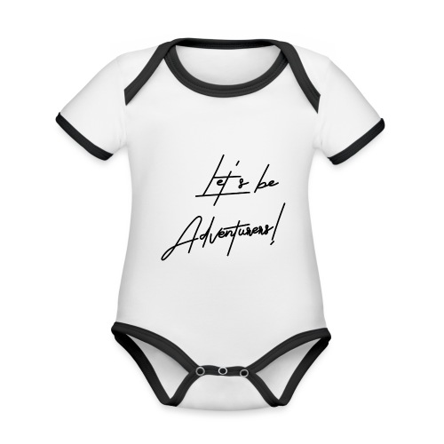 Let's be Adventurers - Body contraste para bebé de tejido orgánico