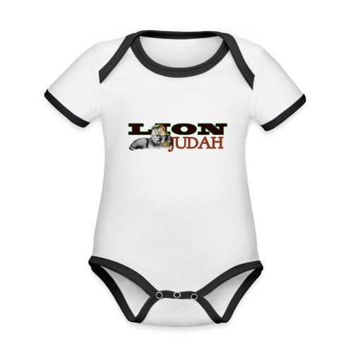 Tribal Judah Gears - Organic Baby Contrasting Bodysuit